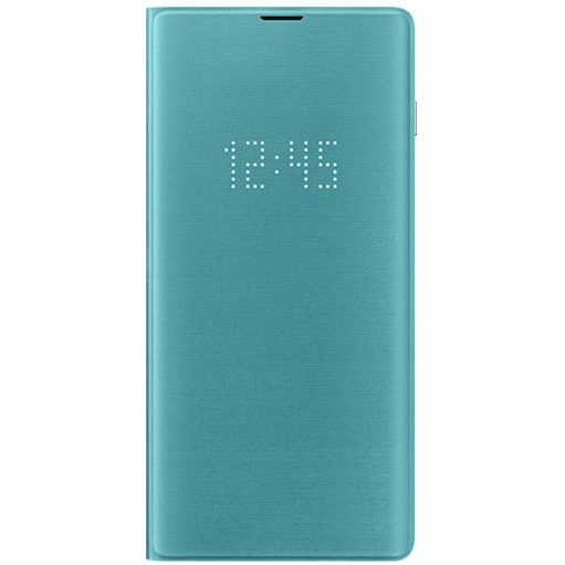 Samsung S10+ LED翻頁式皮套 green