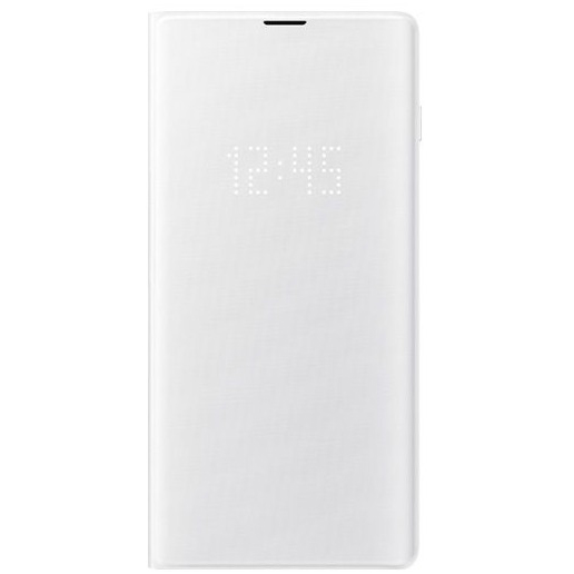 Samsung S10+ LED翻頁式皮套 white