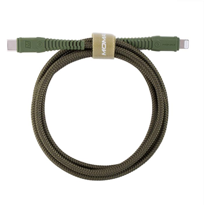 MOMAX TOUGH-Link Type-C to Lightning [1.2M] Army Green
