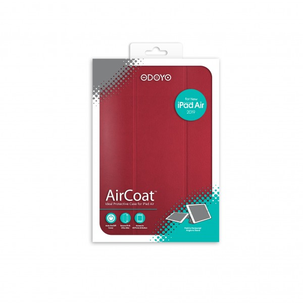 ODOYO AirCoat 2019 iPad Air Burgundy Red 紅色
