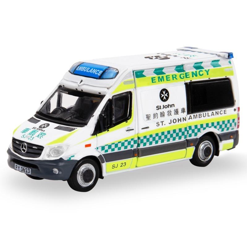 Tiny微影 166 平治Sprinter聖約翰救護車[SJ23]