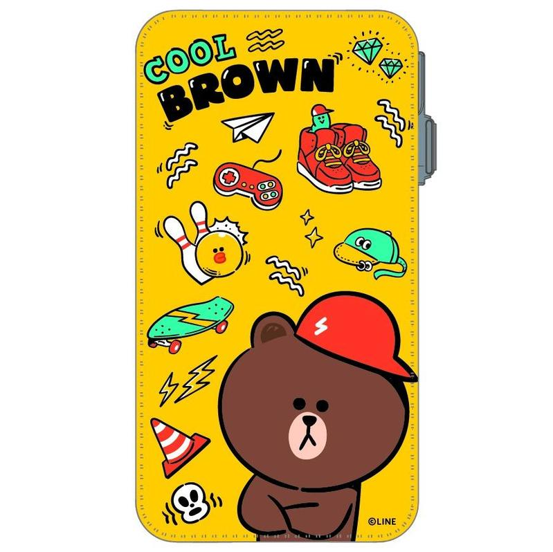 LINE 8000mAh PowerBank BROWN[2]