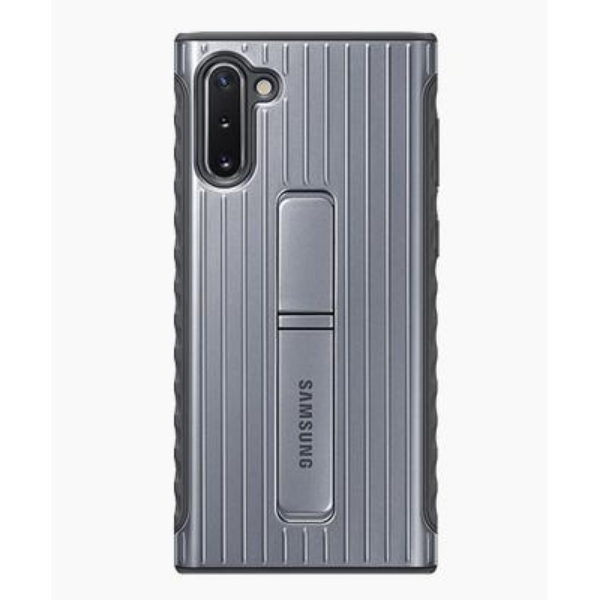 Samsung Note10 立架式保護背蓋 Silver