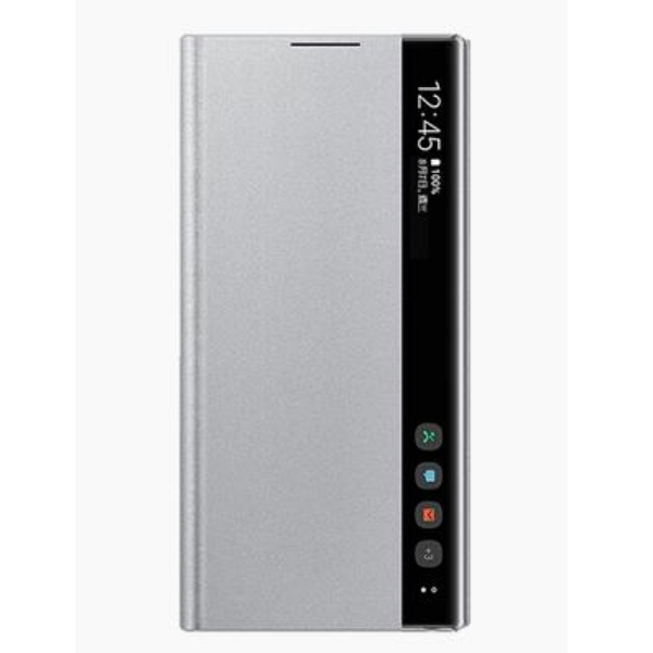 Samsung Note10 全透視感應皮套 Silver