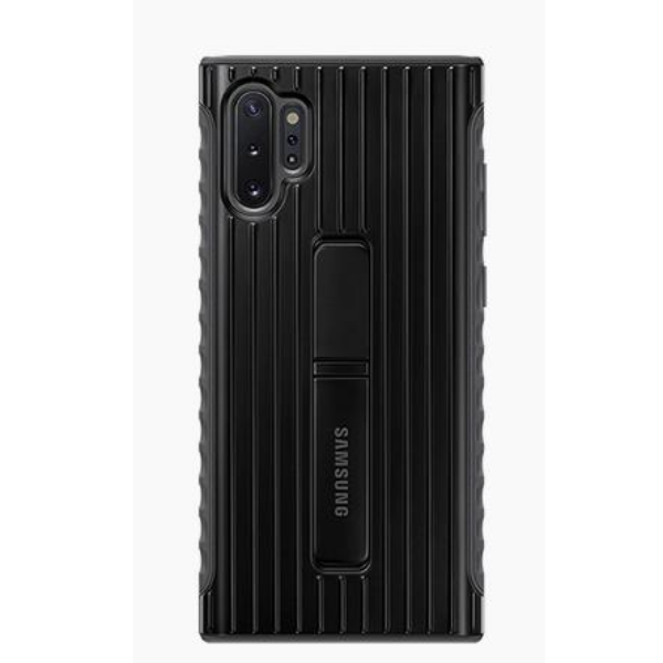 Samsung Note10+ 立架式保護背蓋 Black