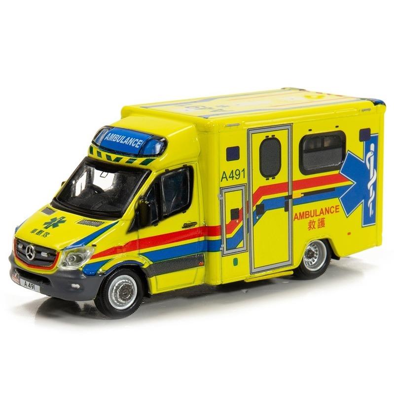 Tiny微影 159 平治Sprinter 消防處救護車[A491]