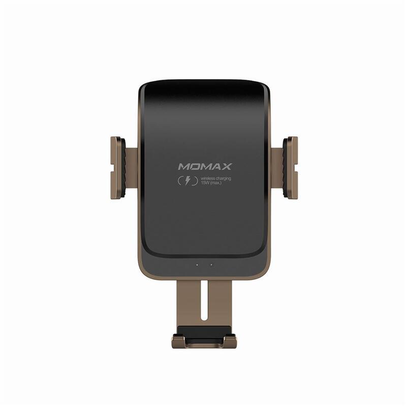 MOMAX Q.Mount Smart2 紅外線感應無線車充支架 黑古銅
