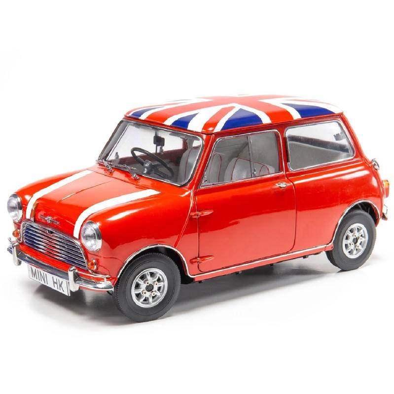 Tiny微影 1/12 Mini Cooper 紅色[英國旗頂+蓋白條紋]