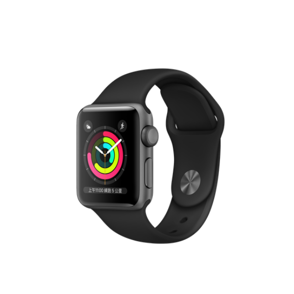 APPLE Watch S3 GPS 38mm Space Grey/Black Sport