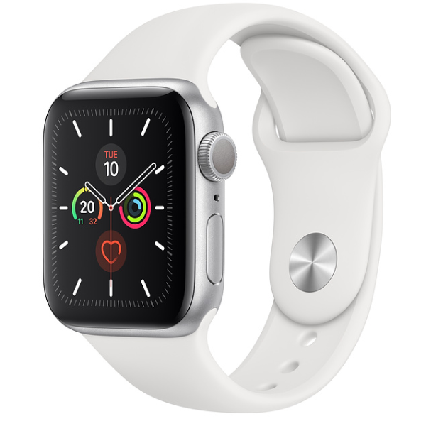 APPLE Watch S5 GPS 40mm Silver/White Sport Band
