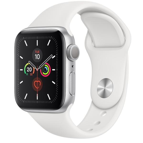 APPLE Watch S5 GPS 40mm Silver/White Sport