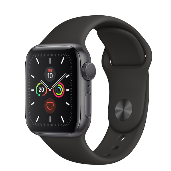 APPLE [5]Watch S5 GPS 40mm Space Grey/Black Sport Band