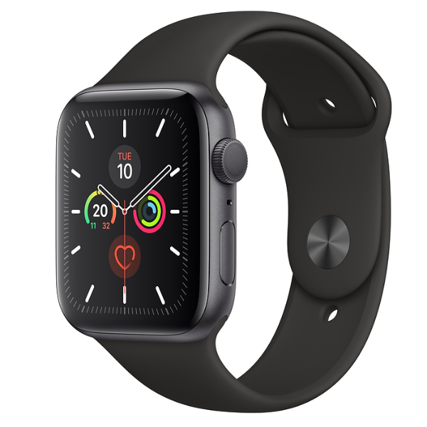 APPLE Watch S5 GPS 44mm Space Grey/Black Sport