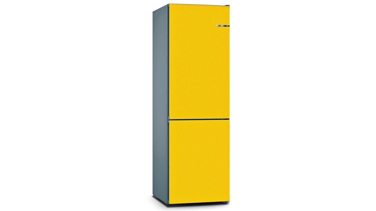BOSCH 324L雙門雪櫃/配可更換門板 KVN36IF3BK-朝日黃色