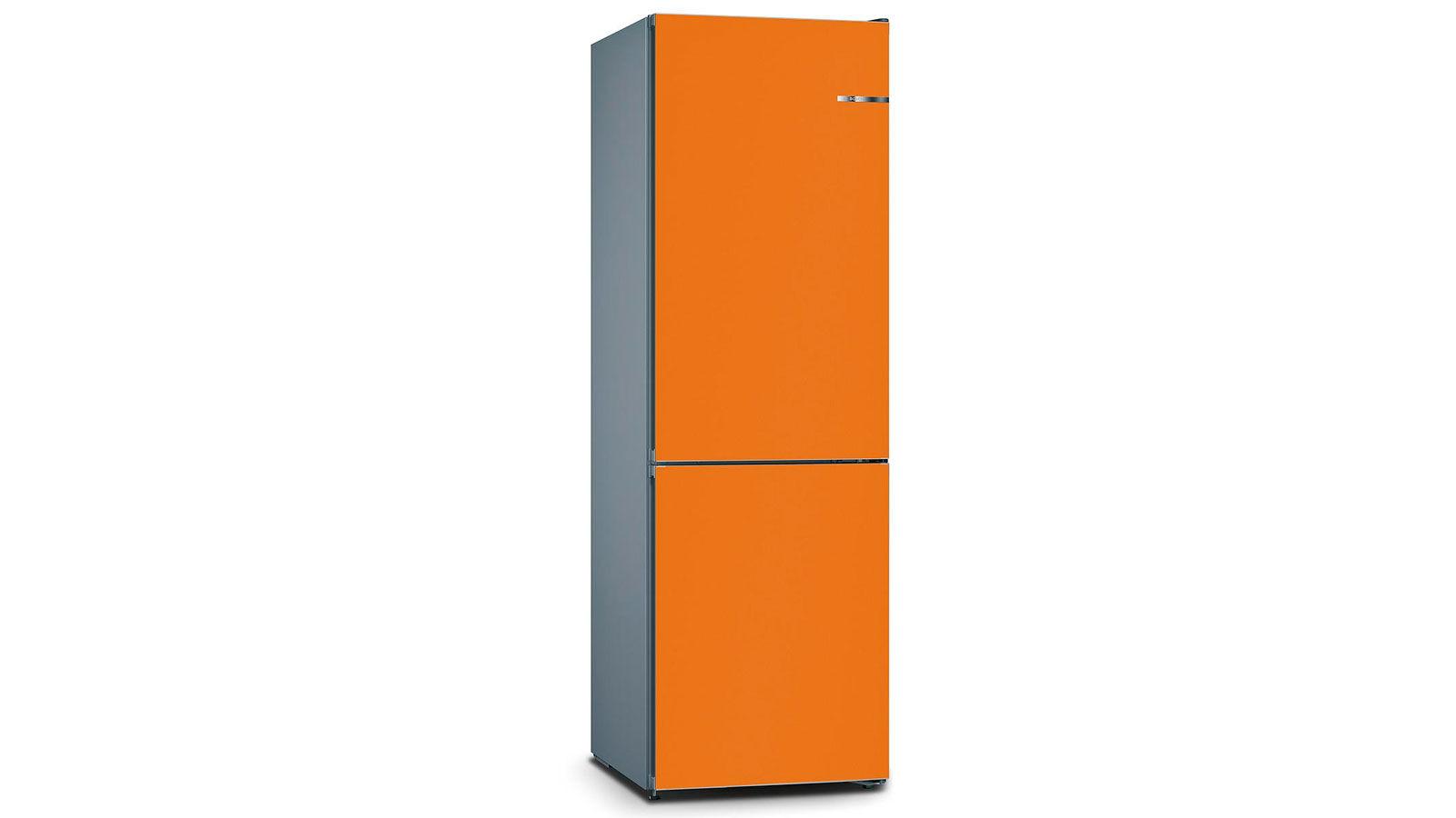 BOSCH 324L雙門雪櫃/配可更換門板 KVN36IO3BK-鮮橙色