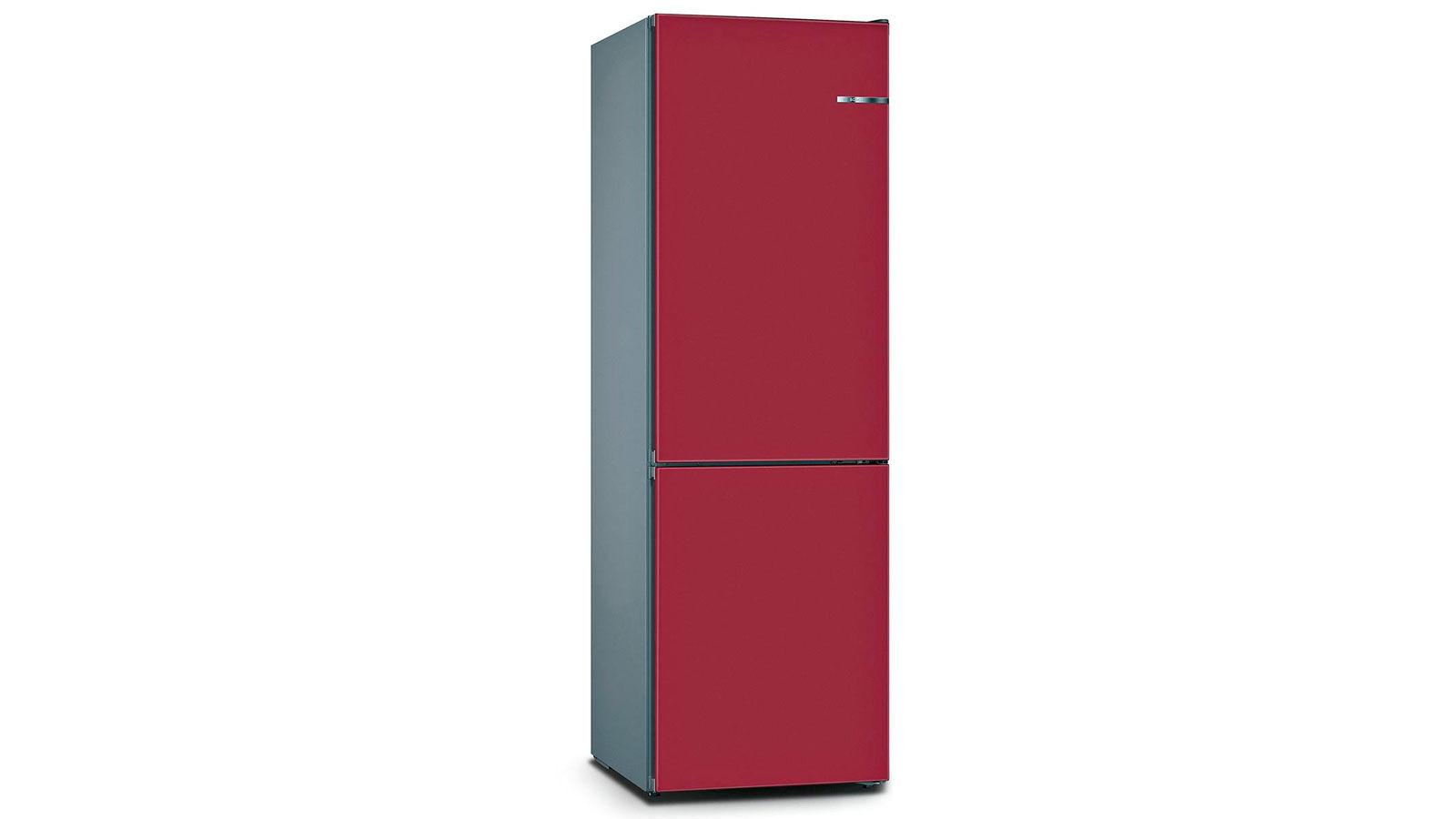 BOSCH 324L雙門雪櫃/配可更換門板 KVN36IE3BK-野莓紅色