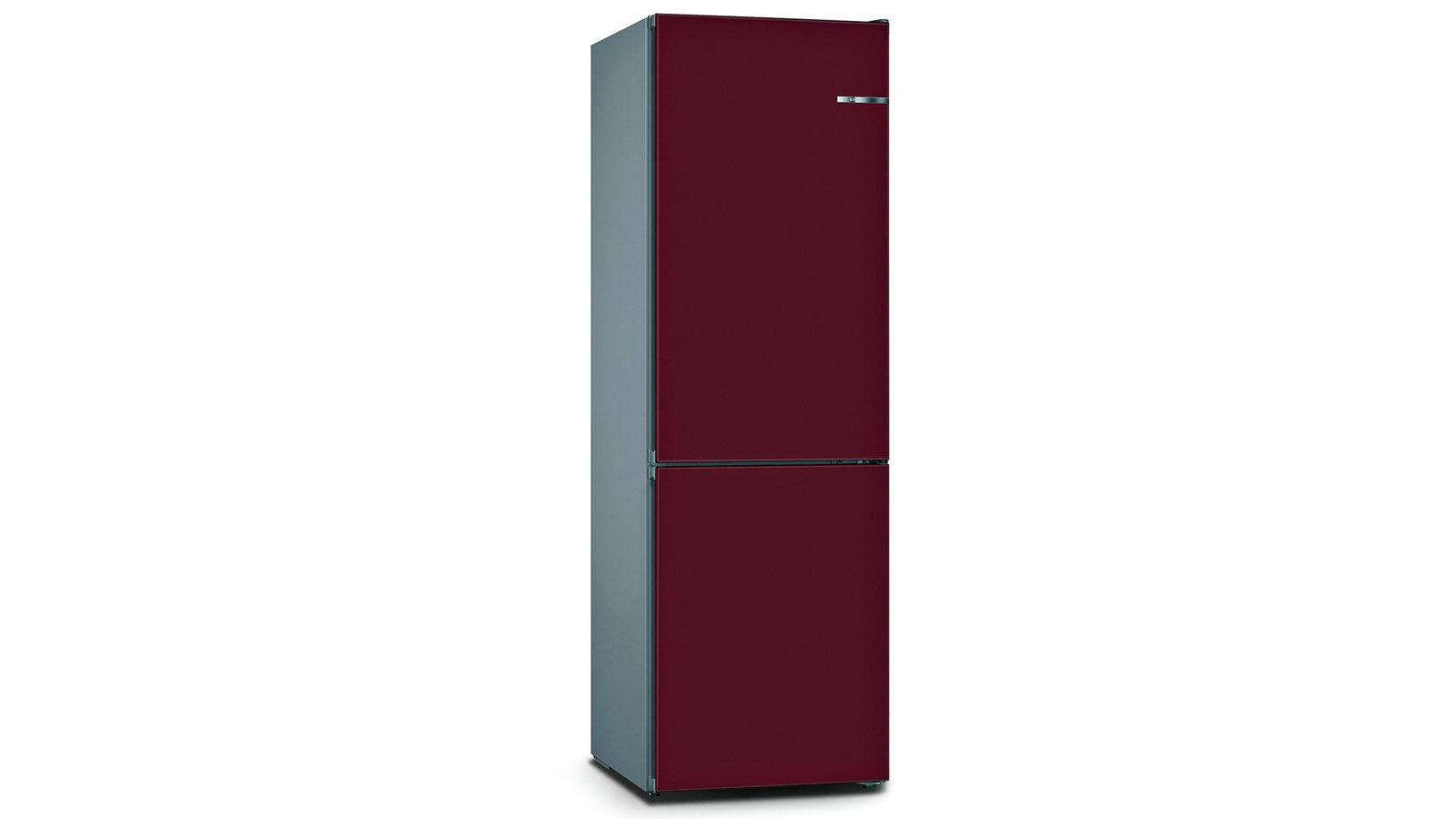 BOSCH 324L雙門雪櫃/配可更換門板 KVN36IL3BK-紫紅色