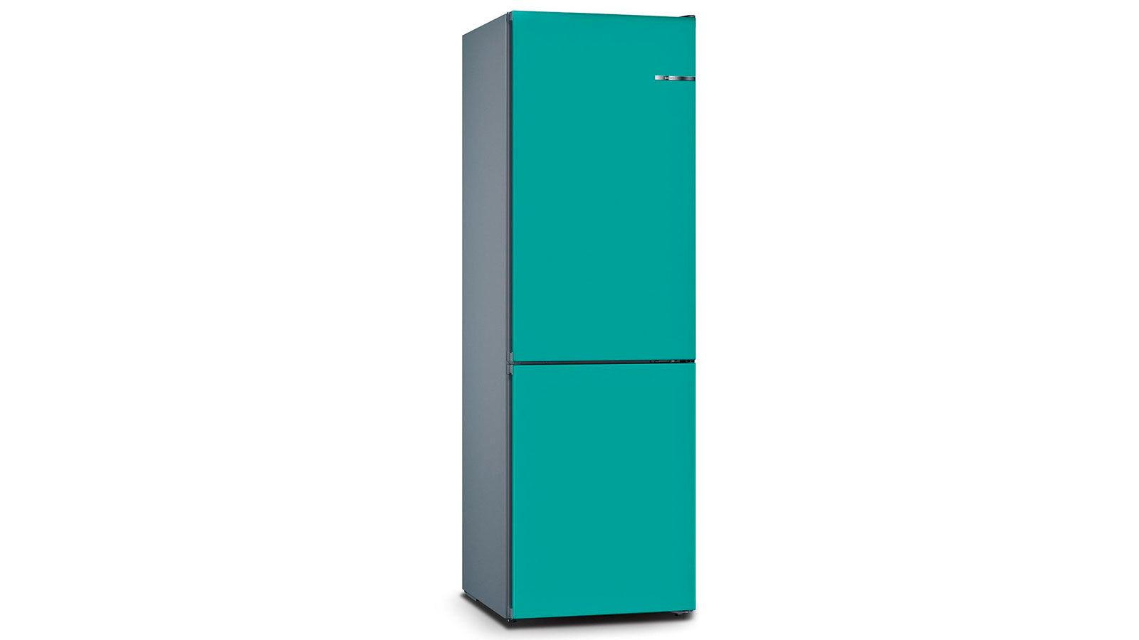 BOSCH 324L雙門雪櫃/配可更換門板 KVN36IA3BK-湖水藍