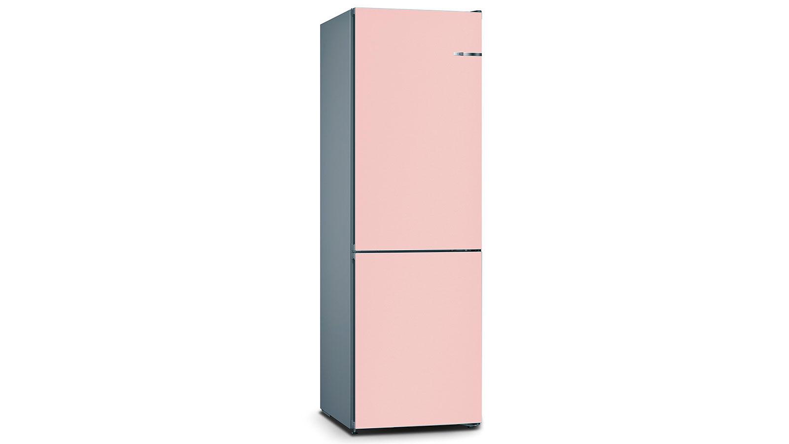 BOSCH 324L雙門雪櫃/配可更換門板 KVN36IP3BK-玫瑰粉