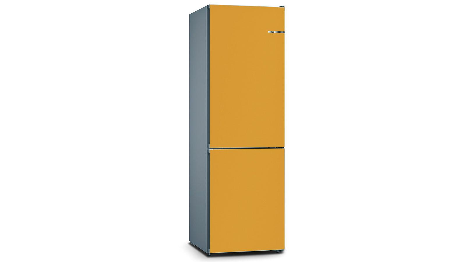 BOSCH 324L雙門雪櫃/配可更換門板 KVN36IX3BK-寶石金