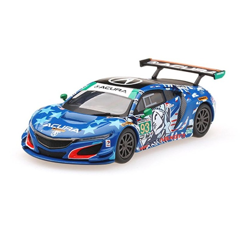 MINI GT Acura NSX GT3 #93 Statue of Liberty 2017 IMSA Watkins Glen