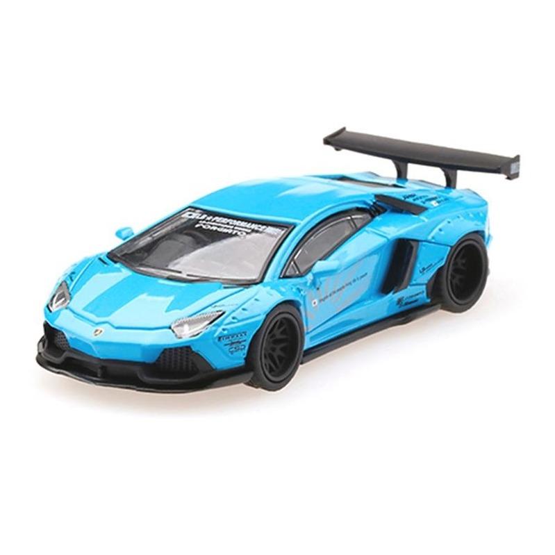 MINI GT LB*WORKS Lamborghini Aventador RHD Light Blue