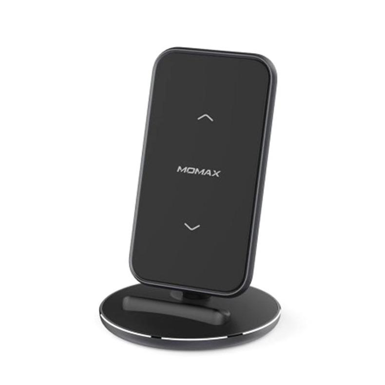 MOMAX Q.Dock5 直立無線充電座[需另購QC3.0火牛] 黑[15W]