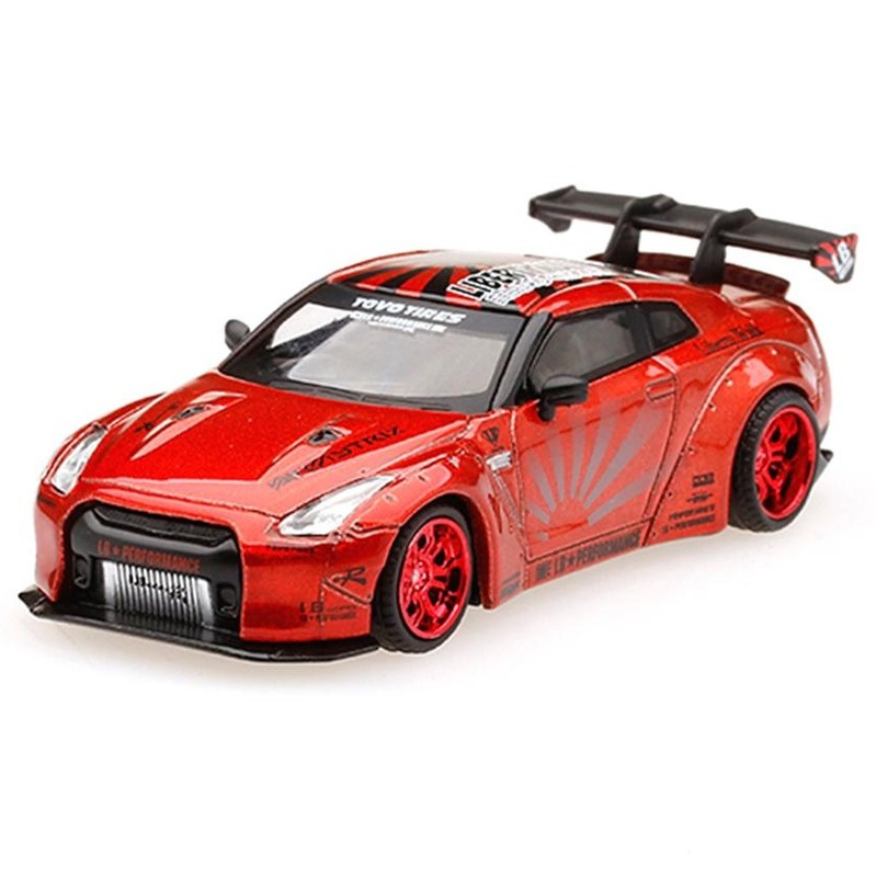 MINI GT LB*WORKS Nissan GT-R R35 [R.Wing V.1+2] Candy Red RHD