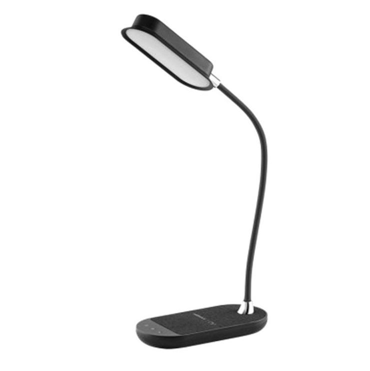 MOMAX Q.LED Flex 無線充電座檯燈[10W] 黑色