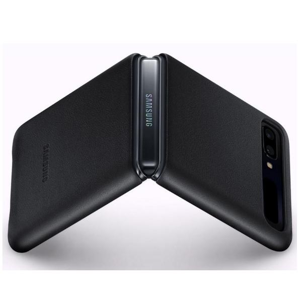 Samsung Z Filp/Bloom 真皮背蓋 black