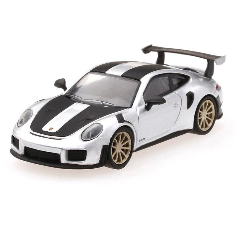 MINI GT Porsche 991 Turbo GT2RS GT [RHD] Silver Metallic