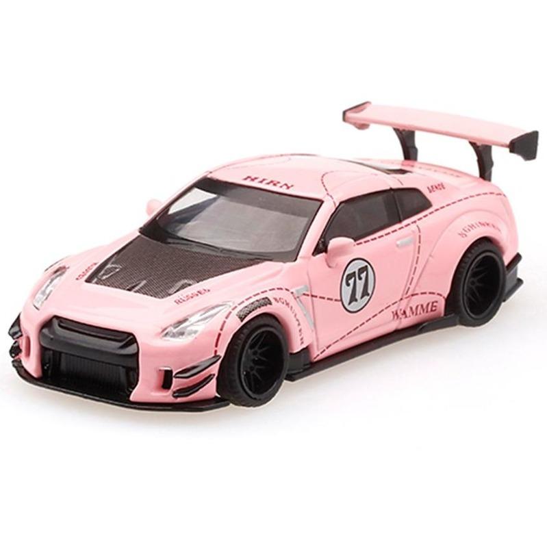 MINI GT LB*WORKS Nissan GT-R R35 [R.Wing V3] Pink Pig RHD