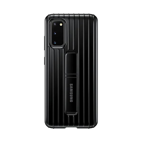 Samsung S20 立架式保護皮套 Black