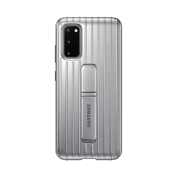 Samsung S20 立架式保護皮套 Silver