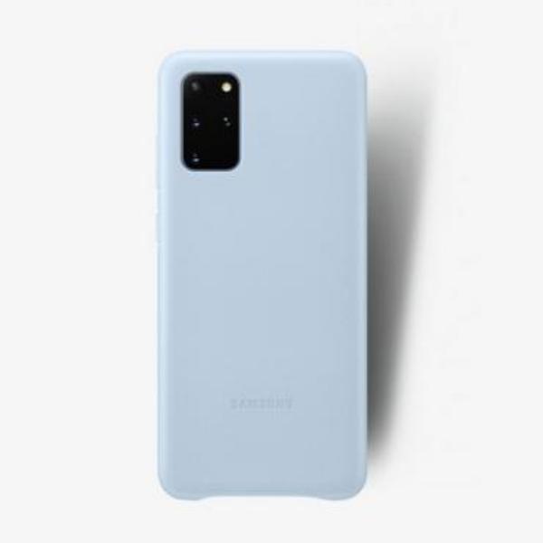 Samsung S20+ 真皮背蓋 Sky blue