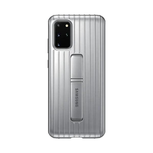 Samsung S20+ 立架式保護皮套 Silver
