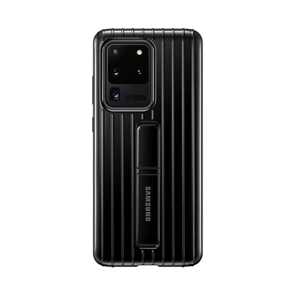 Samsung S20 Ultra 立架式保護皮套 Black