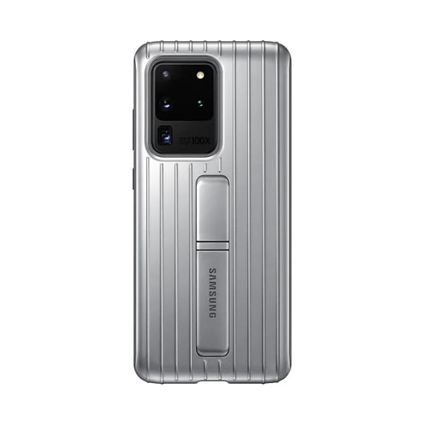 Samsung S20 Ultra 立架式保護皮套 Silver