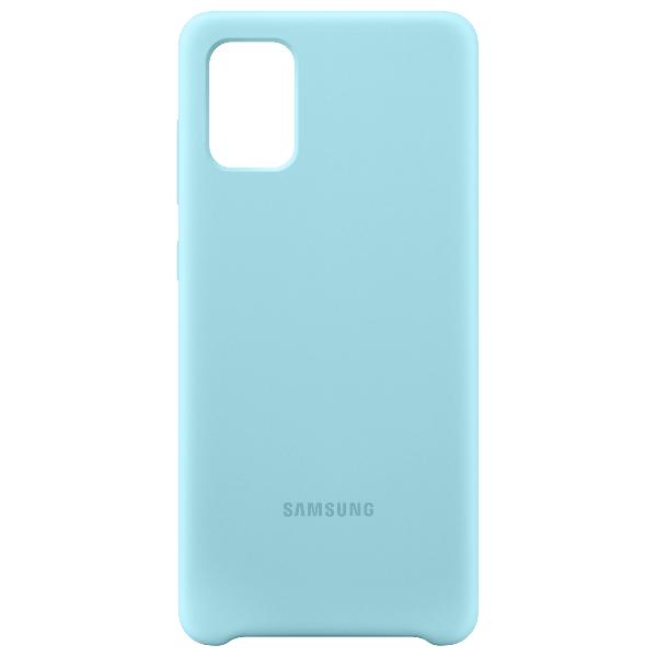 Samsung A71 Silicone cover 藍色