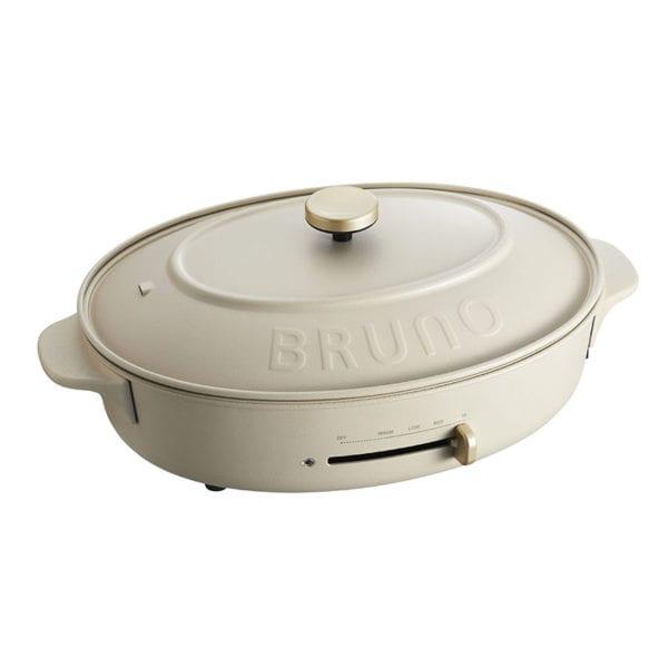 BRUNO 多功能電熱盤/橢圓 BOE053-GRG米白
