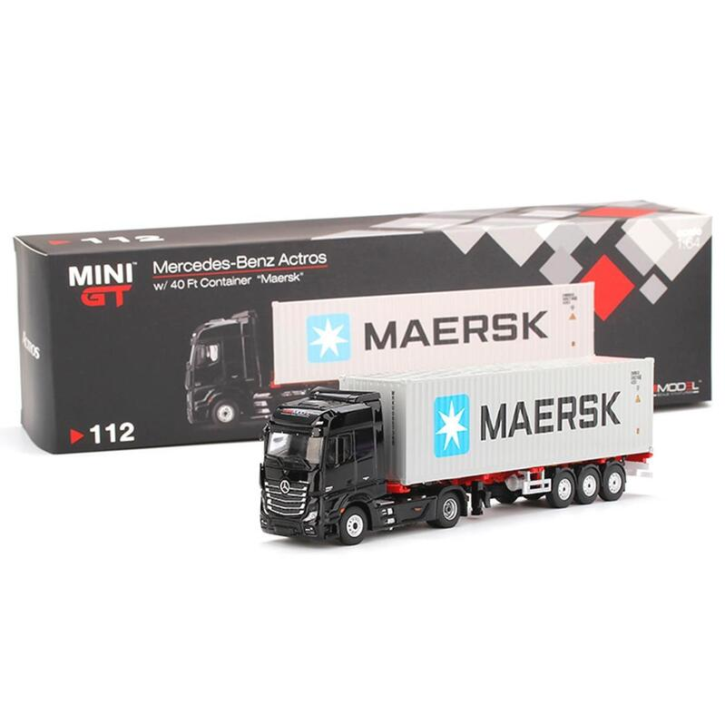MINI GT Mercedes-Benz Actros with 40Ft Container Maersk RHD