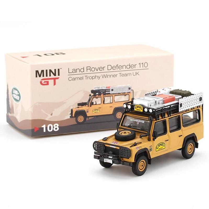 MINI GT Land Rover Defender 110 - Camel Trophy Winner Team UK