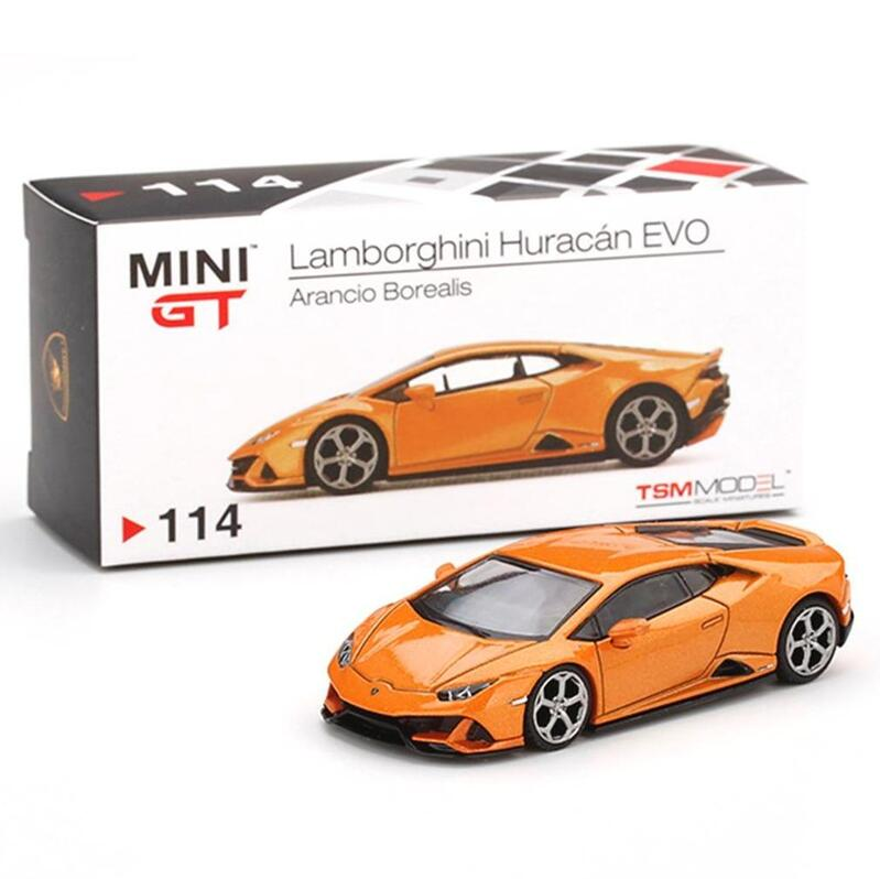 MINI GT Lamborghini Huracan EVO [RHD] Arancio Borealis