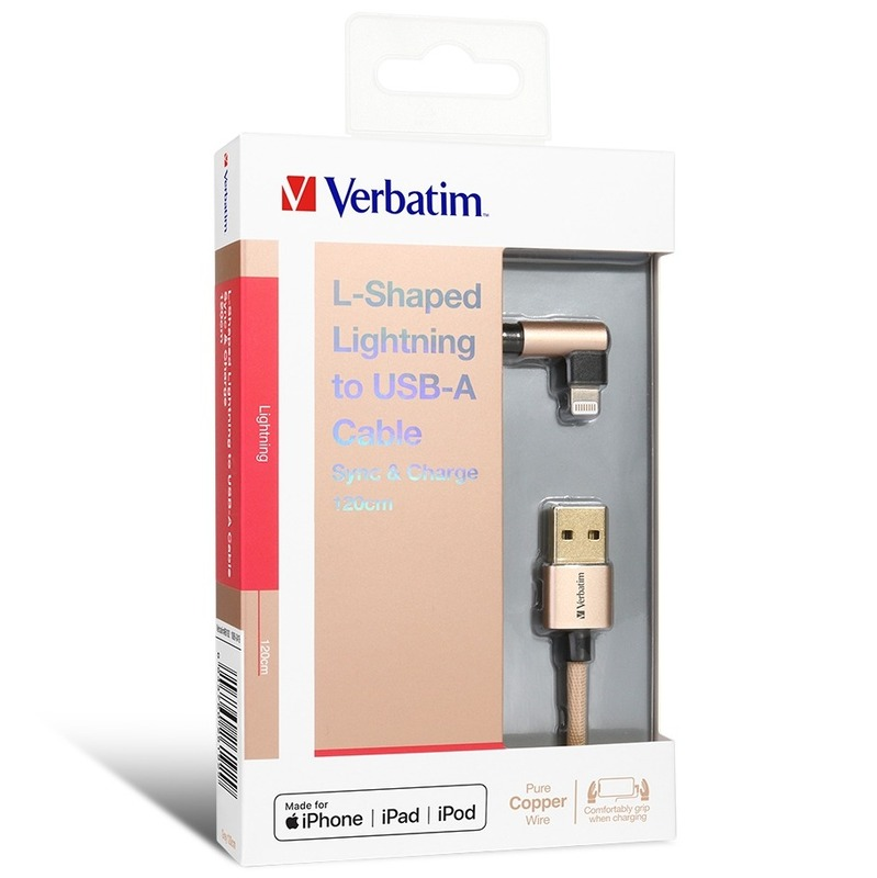 Verbatim L-Shaped Lightning to USB-A Cable 金