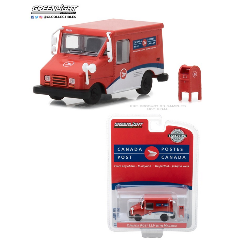 GreenLight Canada Post Long-Life Postal Delivery Vehicle Mailbox