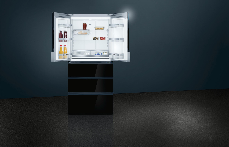 SIEMENS 426L多門雪櫃 黑玻璃 KF86FPB2A