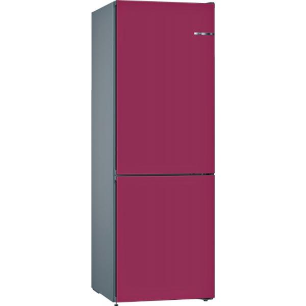BOSCH 324L雙門雪櫃/可更換門板 KVN36IL3DK-紫紅色