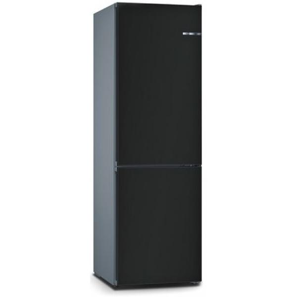 BOSCH 324L雙門雪櫃/可更換門板 KVN36IZ3DK-時尚黑