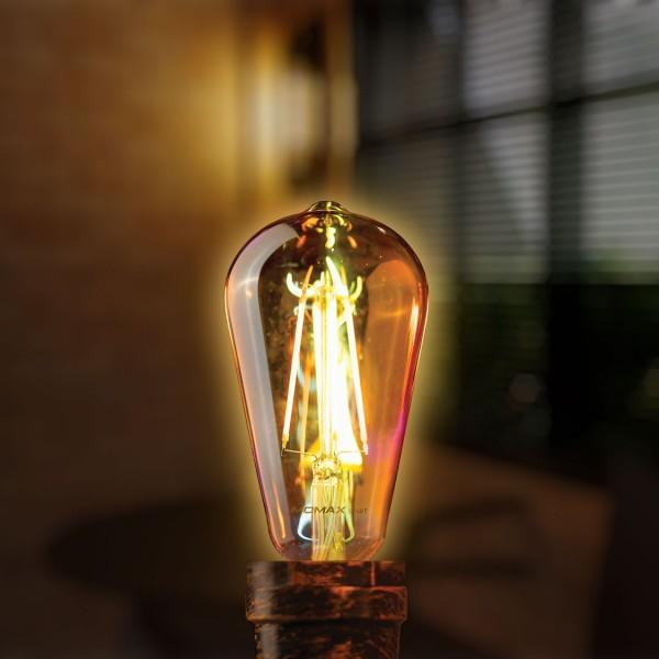 MOMAX SMART IoT 復古WiFi智能LED燈泡 E27/可調色 愛迪生