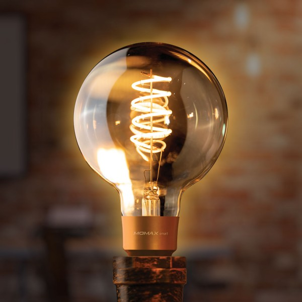 MOMAX SMART IoT 復古WiFi智能LED燈泡 E27/2200K 球體